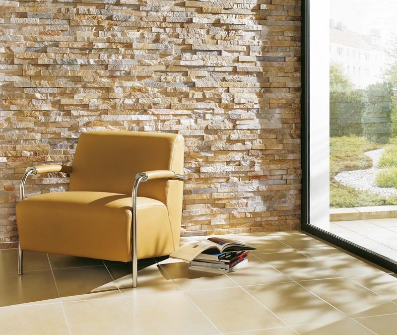 Přírodní kámen skvěle vynikne i v moderním interiéru
